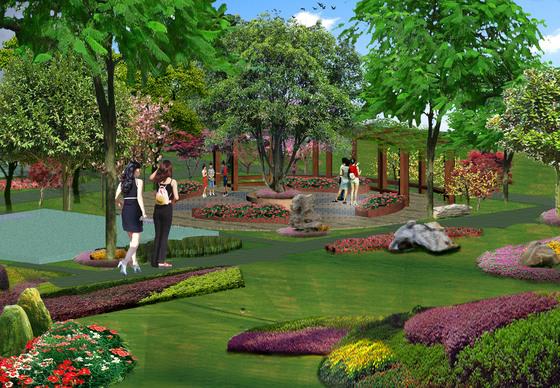 别墅小区绿化-景观节点
