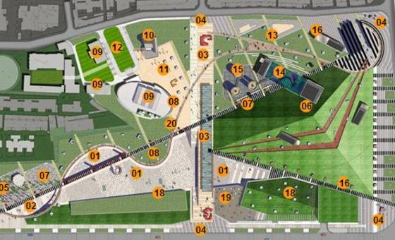 商业广场景观设计 校园广场景观设计