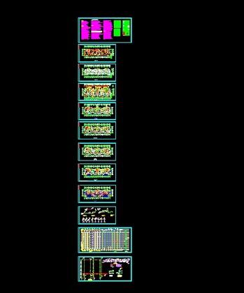 多高层建筑结构节点设计与施工cad精选图集(钢结构) 某30层高层建筑