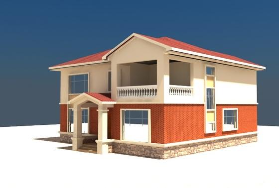 农村两层楼房效果图图片欣赏下载高清图片