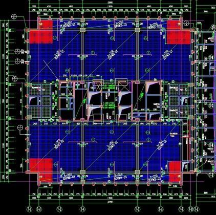 高层框剪结构办公楼,空心楼板