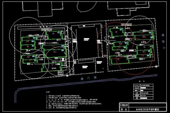 某工程的主体阶段的平面布置图