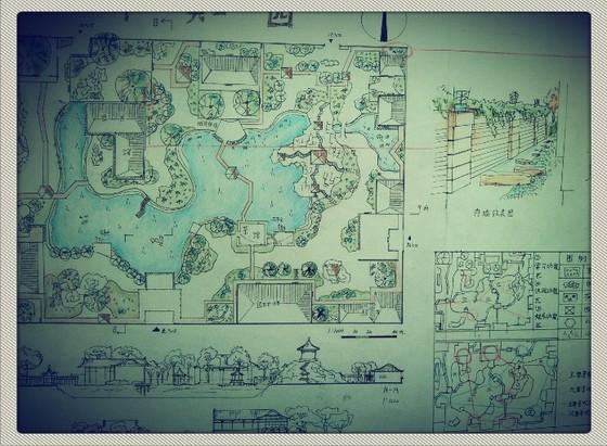 0 简介: 某小区规划设计手绘图,多层建筑混合搭配,包含景观节点详图.