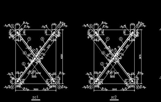 塔吊基座钢筋图纸
