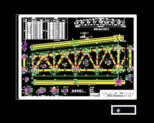 发布日期:2012-07-07  24m梯形钢屋架施工图 0 简介: 钢结构课程设计