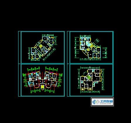 0 简介: 别墅建筑施工图!很不错的欧式别墅!带小院带地下室!