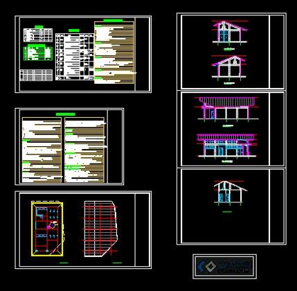 某大型住宅小区园林设计规划总平面图 杭州昆仑公馆小区景观园林设计