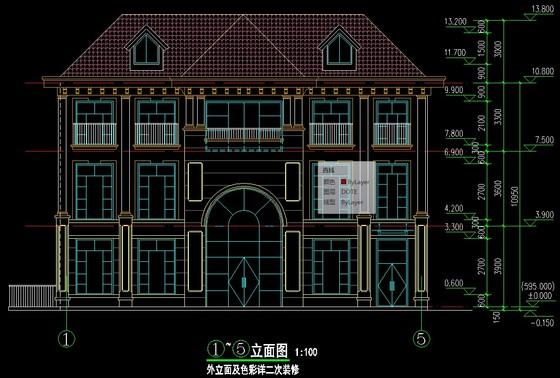 三层小别墅施工图纸