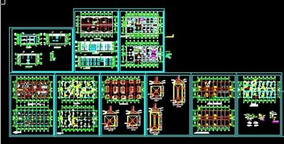某多层框架结构办公楼加层改造结构施工图 欧式多层办公楼方案大师