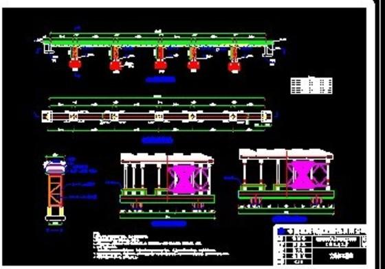 """型""""高抗剪贝雷架; 桥梁工程; 贝雷桥结构设计图纸_co土木在线图纸"""