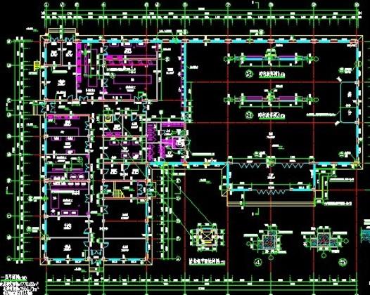 大型食堂 建筑平面布置图