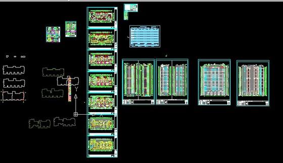 高层建筑施工图纸全套 80 建筑成套高层住宅建筑图图纸分类 高清图片