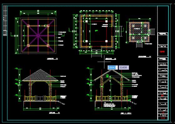 六角凉亭设计图展示