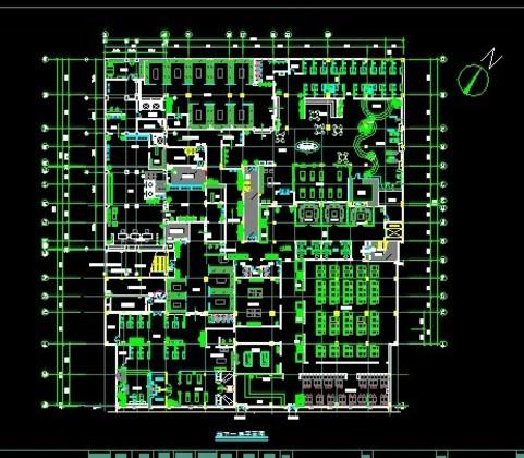 学生课程设计某高层商业办公楼建筑设计方案  湖南某大型洗浴平面布置