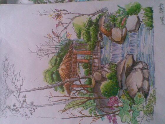 手绘效果图咖啡厅效果图手绘咖啡厅设计手绘效果图