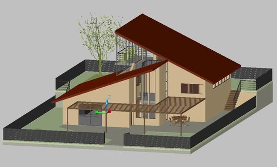 二层半别墅外观设计图展示