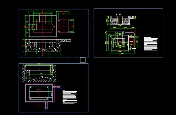 机械厂房基础施工图