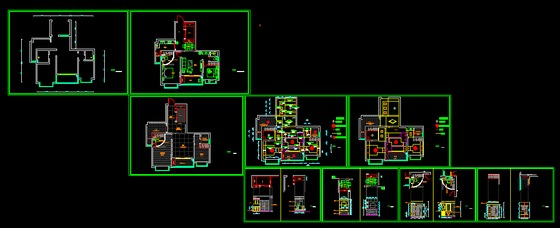 某地区住宅户型及家具立面图