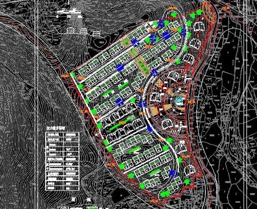 山地小区总平面规划图