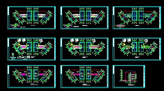 新增钢结构连廊 幕墙施工图