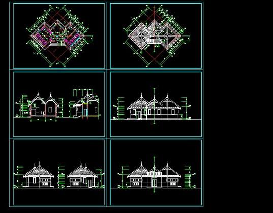 牌楼,牌坊建筑施工图 塔,桥建筑施工图 欧式景观小品建筑施工图 古建