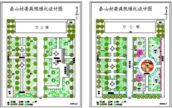 景观规划设计; 长方形小游园平面图; 公园及游园图纸