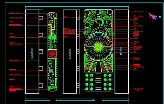 游园绿化设计图 办公楼及厂区绿化设计图 屋顶花园设计图 医院学校