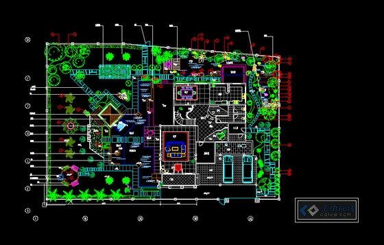 别墅建筑图,鸟瞰图