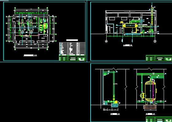 燃气热水锅炉房设计图纸