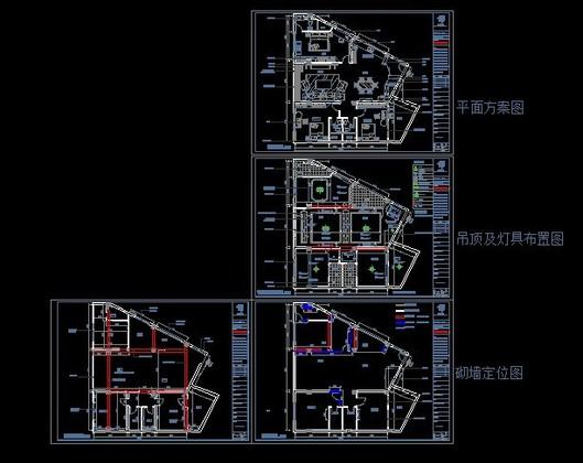 100平米简约时尚三室一厅_设计图分享图片