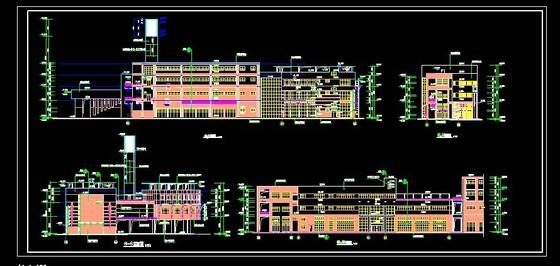 某小区会所设计建筑施工图 某个欧式风格会所设计 某住宅式私人会所