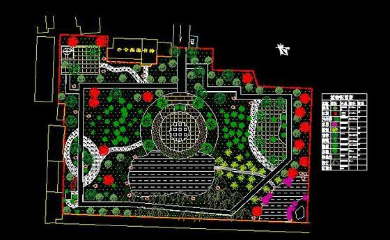 广场绿化设计图手绘图