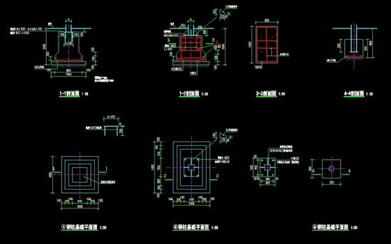 04j012-3-51钢柱基础图