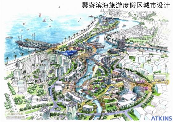 城市绿地规划手绘图