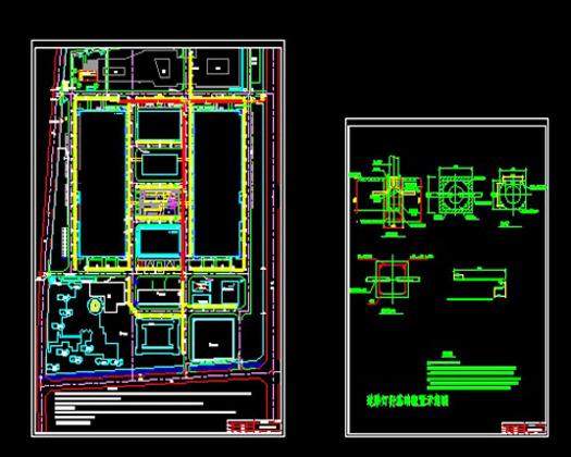 厂区路灯布置及基础施工图