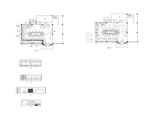 某餐厅平面图施工图立面图