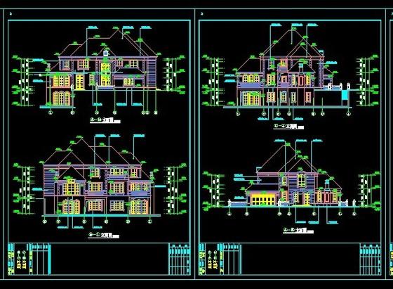 别墅设计平立剖面设计图 浙江萧山别墅设计图(含建筑,结构,90平方)