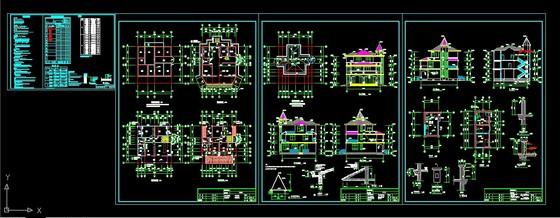 名设计师的中式别墅设计图保密资料3 某地3层私人别墅欧式小别墅设计