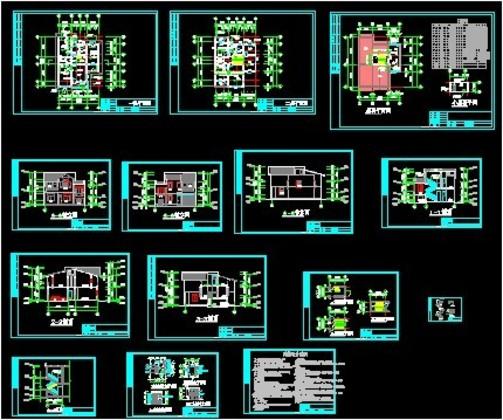 全套两层农村房屋建筑施工图纸
