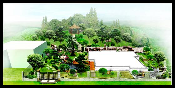 设计手绘效果图别墅景观设计图别墅景观设计平面图