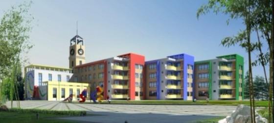 幼儿园建筑设计效果图图片