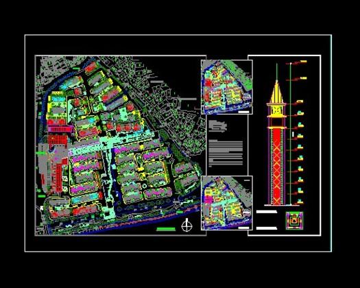 规划平面图住宅小区总平面图cad住宅小区平面规划图