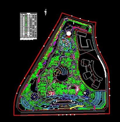 公园景观绿化平面图