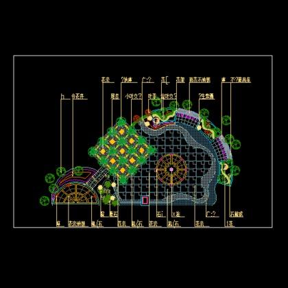 某广场景观木栈道设计施工图(含平面图,剖面图及节点详图) 某市某会所