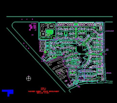 平面布置图,内容主要包括:商业区