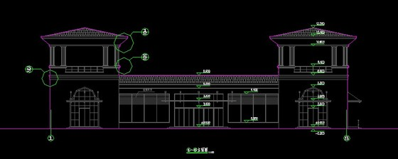 水利工程设计图专区  某旅游地农副产品展厅建筑施工图,层数两层,欧式