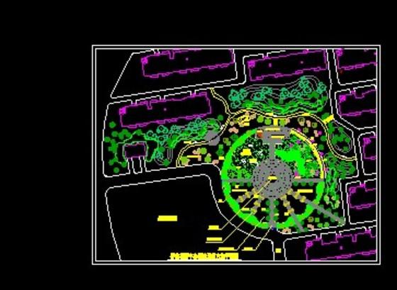 小区中心绿地景观方案平面图
