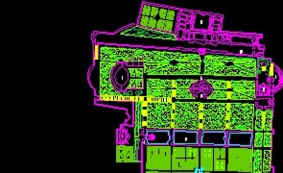 某小区园林绿化施工总平面图纸 居住区园林绿化cad图纸树木图例 居住