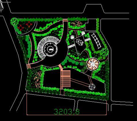 校园文化广场平面图