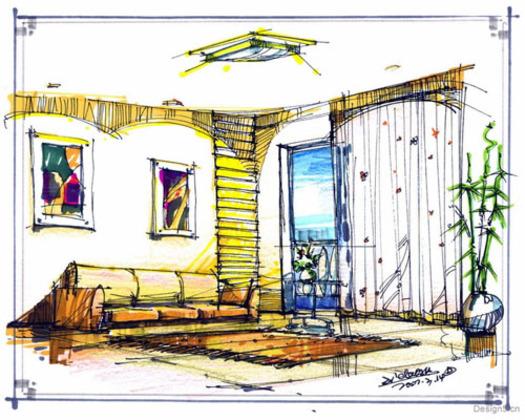 室内设计手绘图